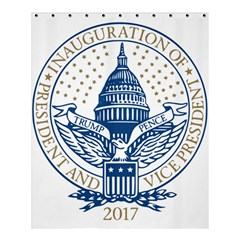 Presidential Inauguration USA Republican President Trump Pence 2017 Logo Shower Curtain 60  x 72  (Medium)