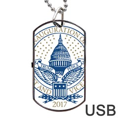 Presidential Inauguration USA Republican President Trump Pence 2017 Logo Dog Tag USB Flash (One Side)