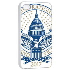 Presidential Inauguration USA Republican President Trump Pence 2017 Logo Apple iPhone 4/4s Seamless Case (White)
