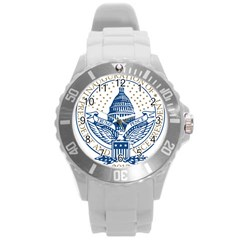 Presidential Inauguration USA Republican President Trump Pence 2017 Logo Round Plastic Sport Watch (L)