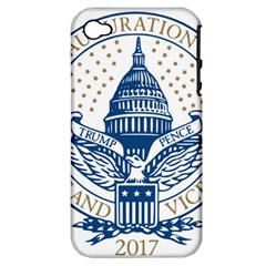 Presidential Inauguration USA Republican President Trump Pence 2017 Logo Apple iPhone 4/4S Hardshell Case (PC+Silicone)