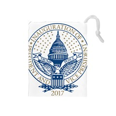 Presidential Inauguration USA Republican President Trump Pence 2017 Logo Drawstring Pouches (Medium)
