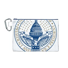 Presidential Inauguration USA Republican President Trump Pence 2017 Logo Canvas Cosmetic Bag (M)