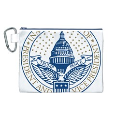 Presidential Inauguration USA Republican President Trump Pence 2017 Logo Canvas Cosmetic Bag (L)