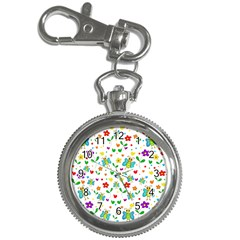Cute butterflies and flowers pattern Key Chain Watches