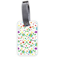 Cute butterflies and flowers pattern Luggage Tags (One Side)