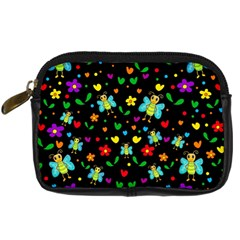 Butterflies and flowers pattern Digital Camera Cases