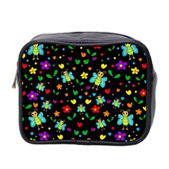 Butterflies and flowers pattern Mini Toiletries Bag 2-Side