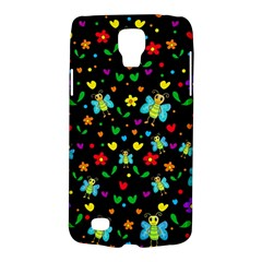 Butterflies And Flowers Pattern Galaxy S4 Active