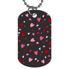 Hearts pattern Dog Tag (One Side)