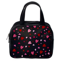 Hearts pattern Classic Handbags (One Side)