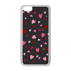 Hearts Pattern Apple Iphone 5c Seamless Case (white)