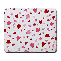 Valentine s day hearts Large Mousepads
