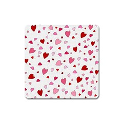 Valentine s day hearts Square Magnet