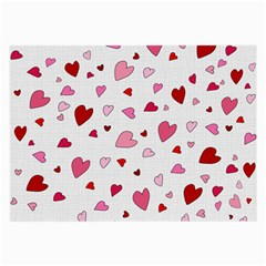 Valentine s Day Hearts Large Glasses Cloth