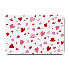 Valentine s day hearts Small Doormat