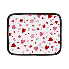 Valentine s day hearts Netbook Case (Small)