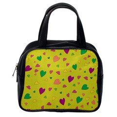 Colorful hearts Classic Handbags (One Side)