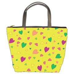 Colorful hearts Bucket Bags