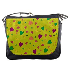 Colorful Hearts Messenger Bags
