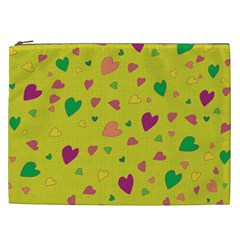 Colorful Hearts Cosmetic Bag (xxl)