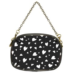 Black and white hearts pattern Chain Purses (Two Sides)
