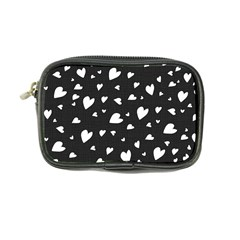 Black and white hearts pattern Coin Purse