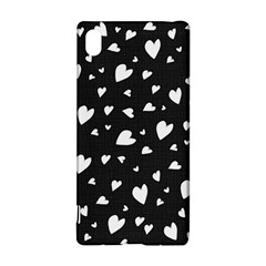 Black and white hearts pattern Sony Xperia Z3+