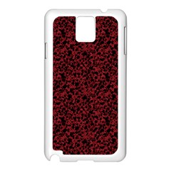 Red Coral Pattern Samsung Galaxy Note 3 N9005 Case (white)