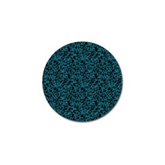 Blue coral pattern Golf Ball Marker (10 pack)