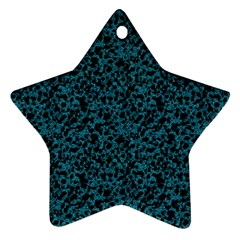 Blue Coral Pattern Star Ornament (two Sides)