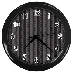 Gray elegant texture Wall Clocks (Black)