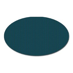 Blue texture Oval Magnet
