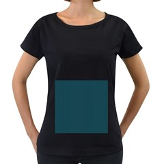 Blue texture Women s Loose-Fit T-Shirt (Black)
