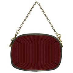 Red texture Chain Purses (Two Sides)