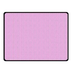 Pink texture Fleece Blanket (Small)