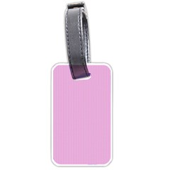 Pink texture Luggage Tags (One Side)