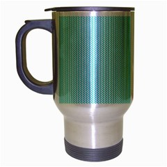 Light blue texture Travel Mug (Silver Gray)