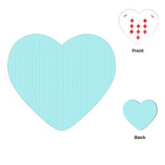 Light blue texture Playing Cards (Heart)