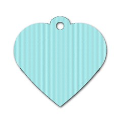 Light blue texture Dog Tag Heart (One Side)