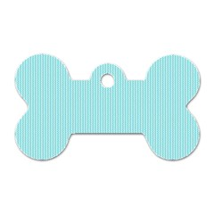 Light blue texture Dog Tag Bone (One Side)