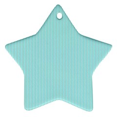 Light blue texture Star Ornament (Two Sides)