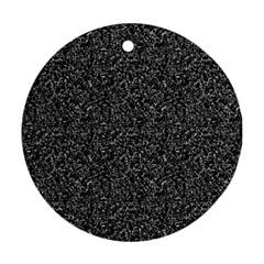 Black elegant texture Ornament (Round)