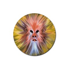 Monster Ghost Horror Face Rubber Coaster (Round)
