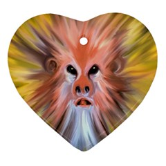 Monster Ghost Horror Face Heart Ornament (Two Sides)