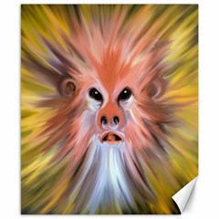 Monster Ghost Horror Face Canvas 8  X 10