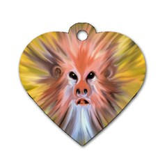 Monster Ghost Horror Face Dog Tag Heart (Two Sides)