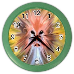 Monster Ghost Horror Face Color Wall Clocks