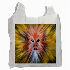 Monster Ghost Horror Face Recycle Bag (Two Side)