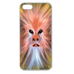Monster Ghost Horror Face Apple Seamless Iphone 5 Case (clear)